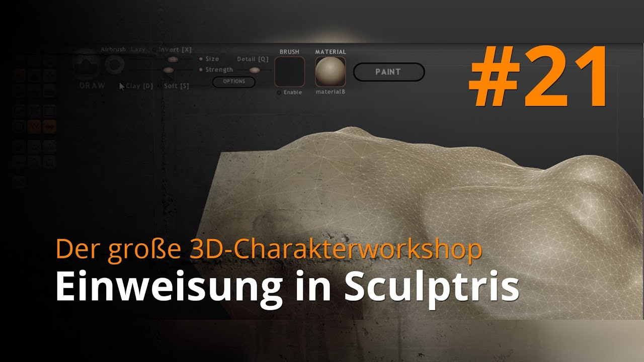 Blender 3D-Charakterworkshop Teil 1 | #21 - Einweisung in Sculptris