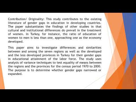 Gender and Spatial Educational Attainment Gaps in Turkey  AEFR 51 102 109