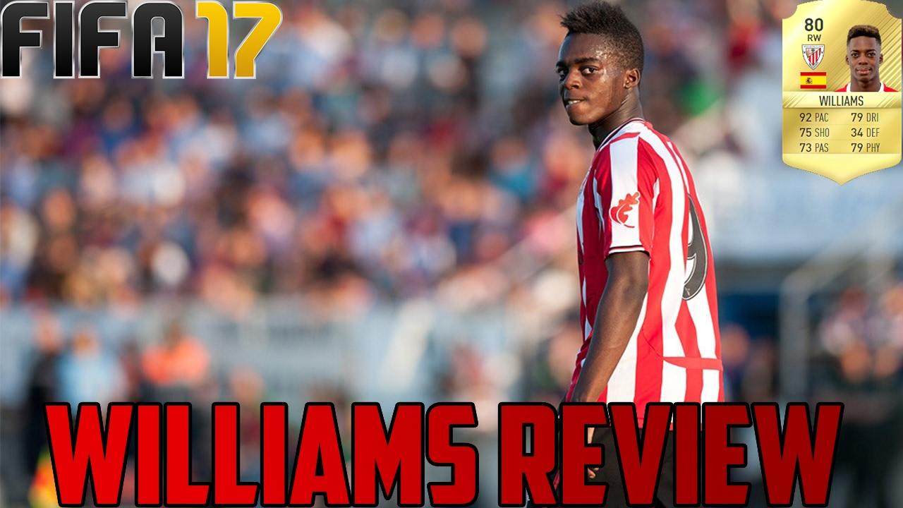 Fifa 17 Inaki Williams 80 Player Review Fifa 17 Williams Review