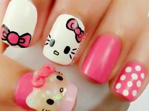 Desain Kutek Hello Kitty Cantik Youtube