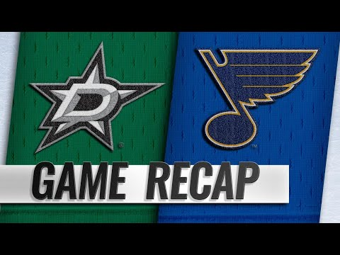 Seguin, Bishop lift Stars to 3-1 win against Blues