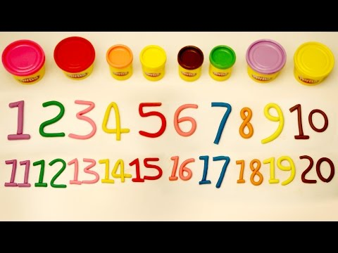 1 to 20 | Learn Numbers 1 - 20 | Number Song | Play Doh Numbers