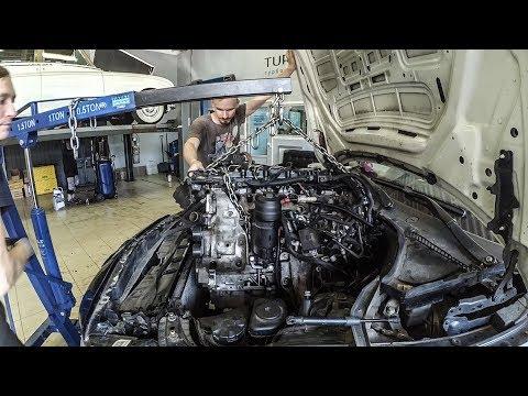 BMW 5 GT Вскрытие мотора N57, Нищеброд на BMW