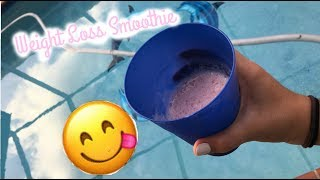 Strawberry Banana Weight-Loss Smoothie |ItsJustJocey