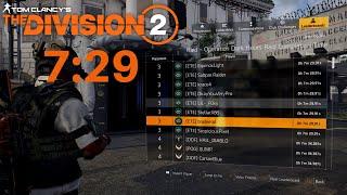 The Division 2 | [7:29] World's Fastest Operation Dark Hours Raid Speedrun