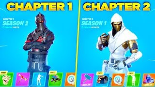 Evolution of Fortnite Battle Pass Items From Chapter 1 - Chapter 2! (Fortnite Rewind)