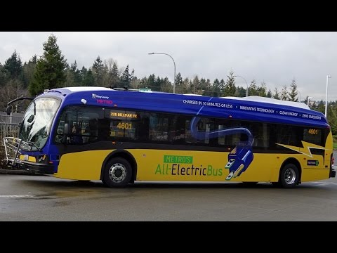 ELECTRIC BUS!!! King County Metro BRAND NEW 2016 Proterra Catalyst BE40 4601 on Rt. 226
