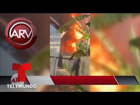 Fuerte explosión de tanque con 9 mil galones de gasolina | Al Rojo Vivo | Telemundo