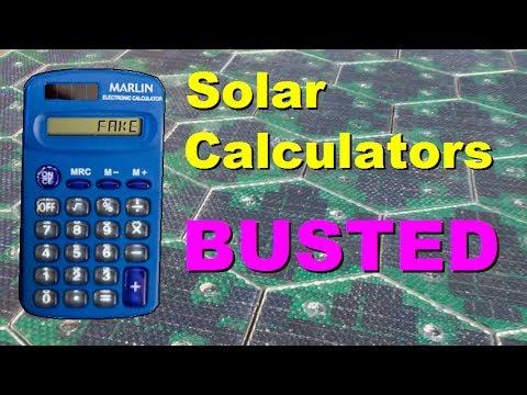 Solar Calculators BUSTED!