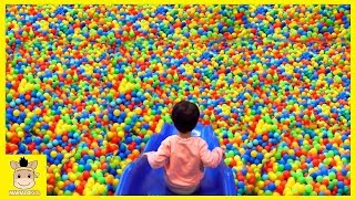 Indoor Playground Fun for Kids and Family Play Rainbow Slide Colors Balls | MariAndKids Toys