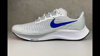 Nike Air Zoom Pegasus 37 'pure plati/ Racer Blue' | UNBOXING & ON FEET | running shoes | 2021