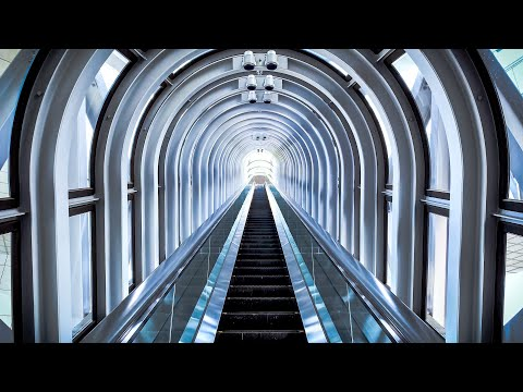 The Highest Escalator in the World [ 4K POV ] Umeda Sky Building, Japan