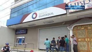 (Milagro) ASALTARON EN EL INTERIOR DEL BANCO DE GUAYAQUIL