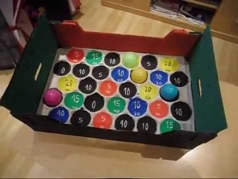 Manualidades con caja carton de manzanas juego de bolas - Manualidades con cajas ...