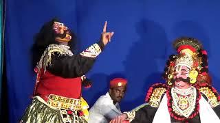 Yakshagana -- Prajwal kumar Guruvayanakere as Dushasana - Hasya