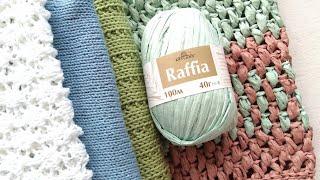 Вязание. Процессы. Эксперимент с рафией.//Knitting