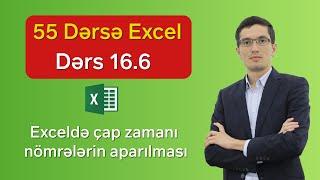 55 dərsə Excel: Dərs 16.6 - Exceldə çap zamanı nömrələmənin tənzimlənməsi