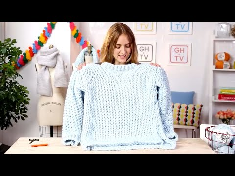 How To Knit A Chunky Wonderwool Sweater From Wool & The Gang | Good HouseKeeping