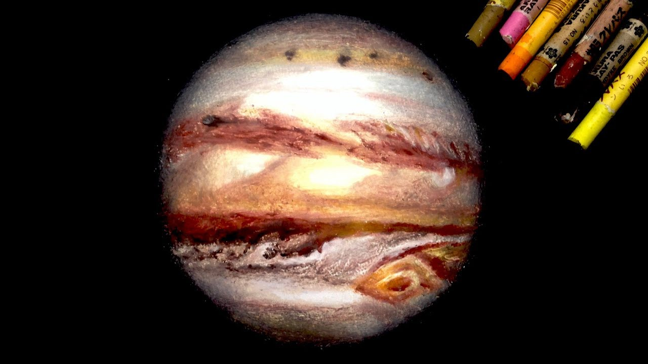 Oil Pastel Painting Quot Jupiter Quot By Polka Youtube