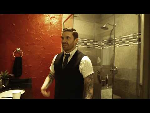 Sherri Marengo - Shinedown singer warms up the voice in the bathroom- acoustics, ya know!