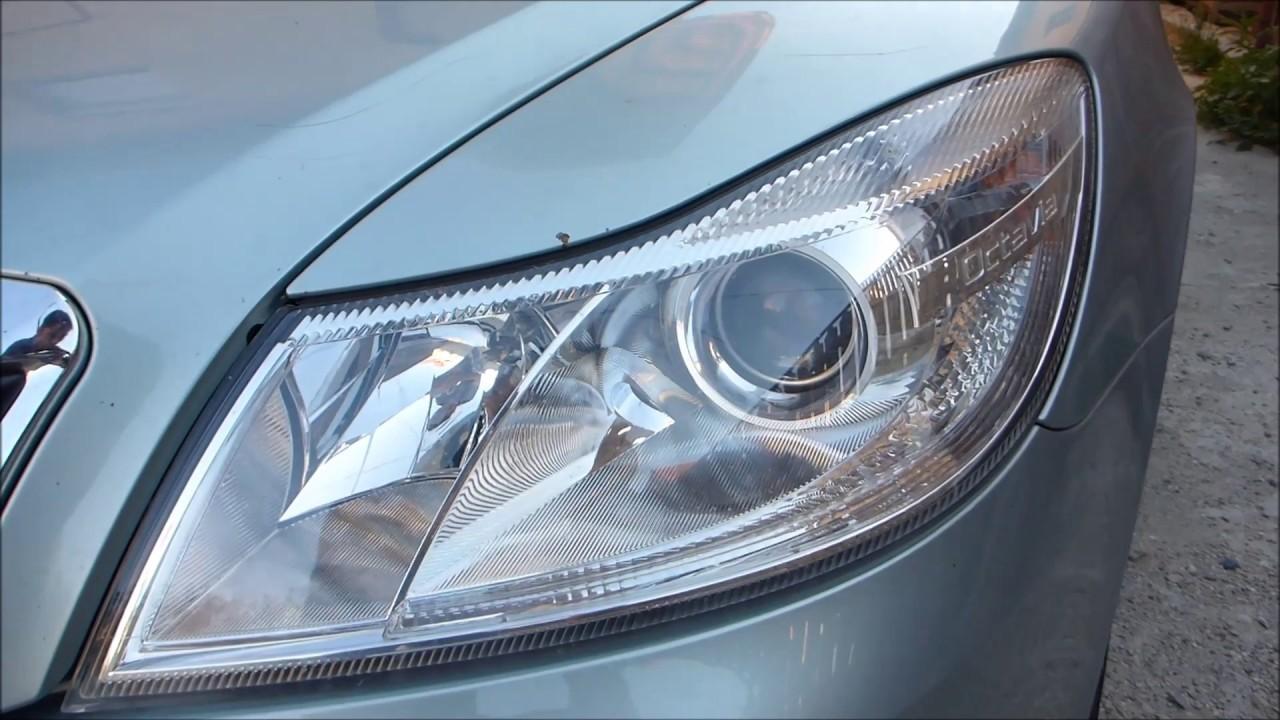 Changing headlight beam bulb h7 skoda octavia 2 audio english changing headlight beam bulb h7 skoda octavia 2 audio english youtube publicscrutiny Choice Image