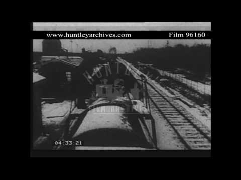 German oil well in 1947.  Archive film 96160