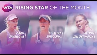 2015 WTA Rising Star of the Month Finalists | May
