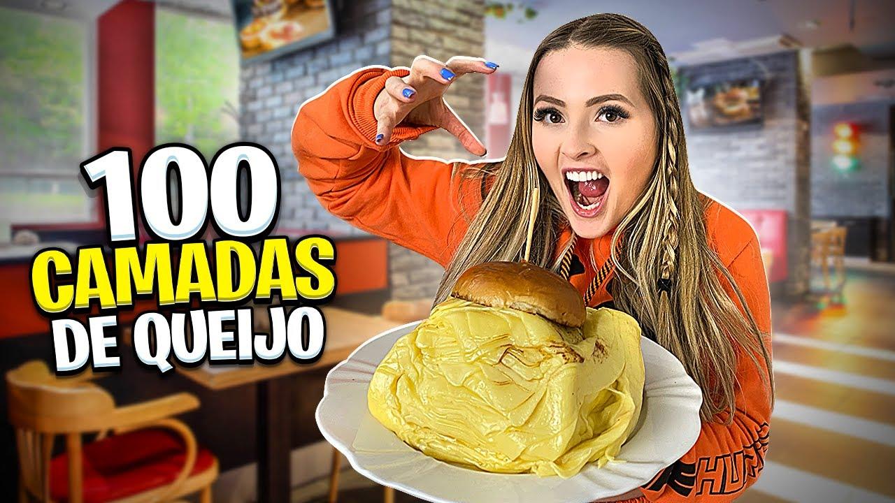 Pedi HAMBÚRGUER com 100 CAMADAS DE QUEIJO 🍔