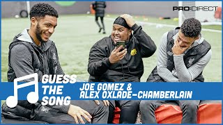 CHUNKZ'S HAIR GETS SLAUGHTERED BY JOE GOMEZ AND ALEX OXLADE-CHAMBERLAIN | GUESS THE SONG CHALLENGE