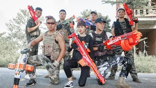 LTT Nerf War : SEAL X Warriors Nerf Guns Fight Attack Criminal Group Bandits Weapon