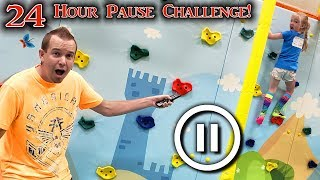 PAUSE CHALLENGE for 24 HOURS!!! Kids vs Parents!