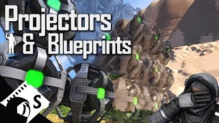 Space Engineers Tutorial: Projęctors and Blueprints (tips, tutorials and testing for survival)