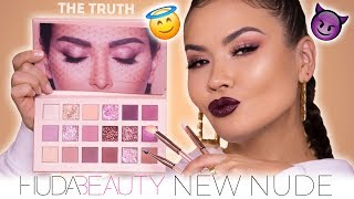 HUDA BEAUTY NEW NUDE PALETTE  REVIEW + SWATCHES | Maryam Maquillage
