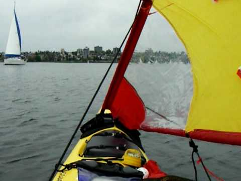 upwind sailing with a kayak