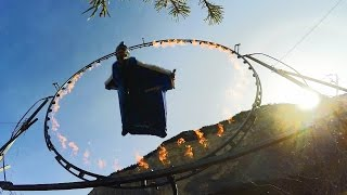 gopro wingsuit flight through ring of fire with uli emanuele