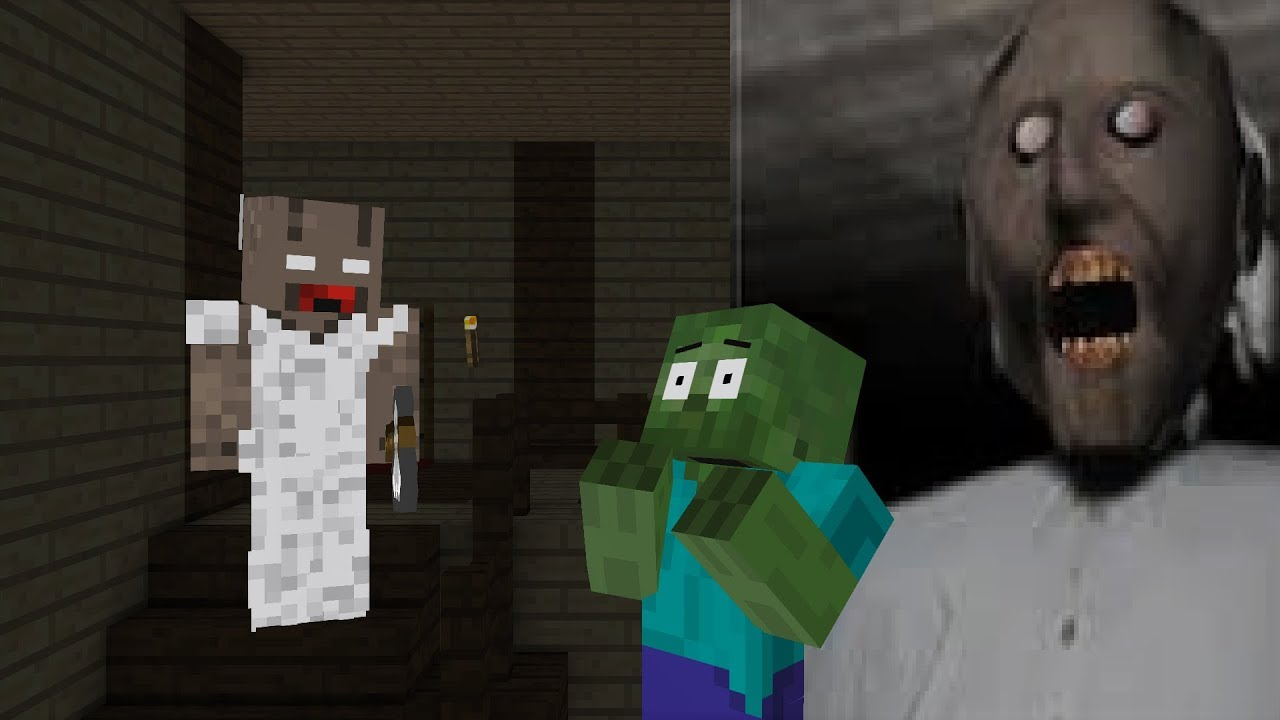 Monster School : REAL GRANNY HORROR GAME -Minecraft Animation