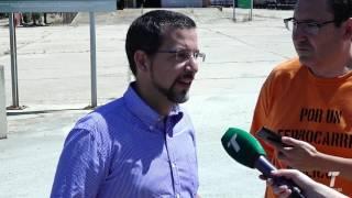 """CGT y Podemos denuncia """"abandono"""" de infraestructuras de FFCC en Huelva"""