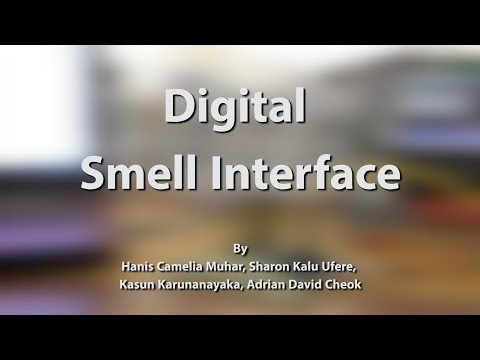 Electric Smell Machine - generate virtual smell using electrical signals