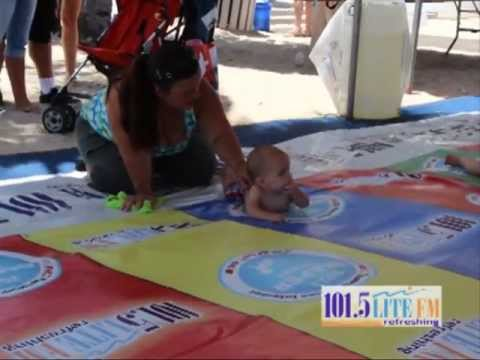 101.5 LITE FM 4th July Diaper Derby On Ft Lauderdale Beach