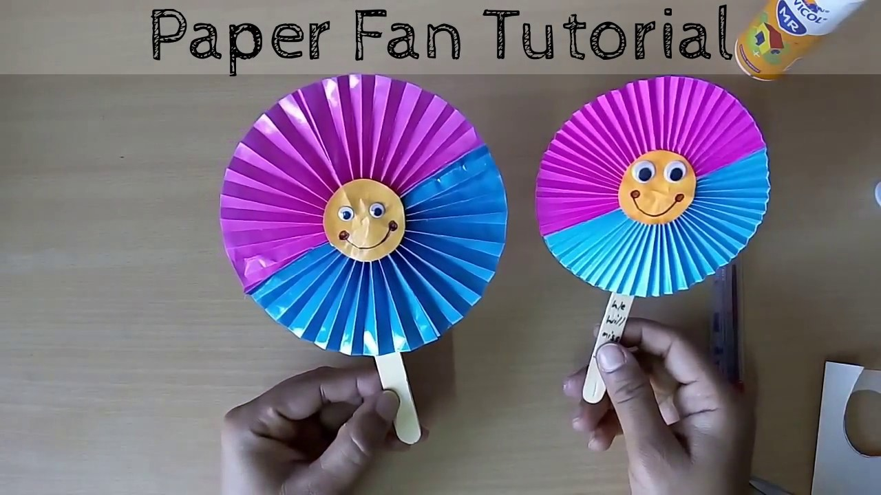 Diy Craft Work Paper Fan Youtube