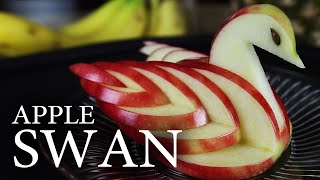 How to make a decorative, and completely edible, apple swan! I made a few modifications to the original idea, to get the effect you see here. Endcard Links: ...