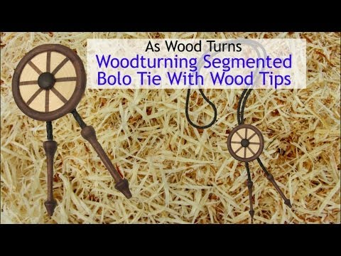 Woodturning Jewelry-Segmented Bolo Tie With Wood Tips