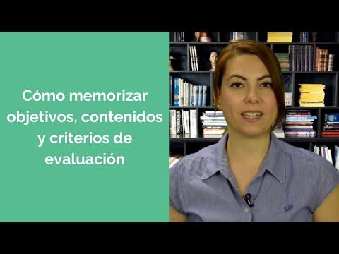 Cómo memorizar objetivos, contenidos y criterios de evaluación