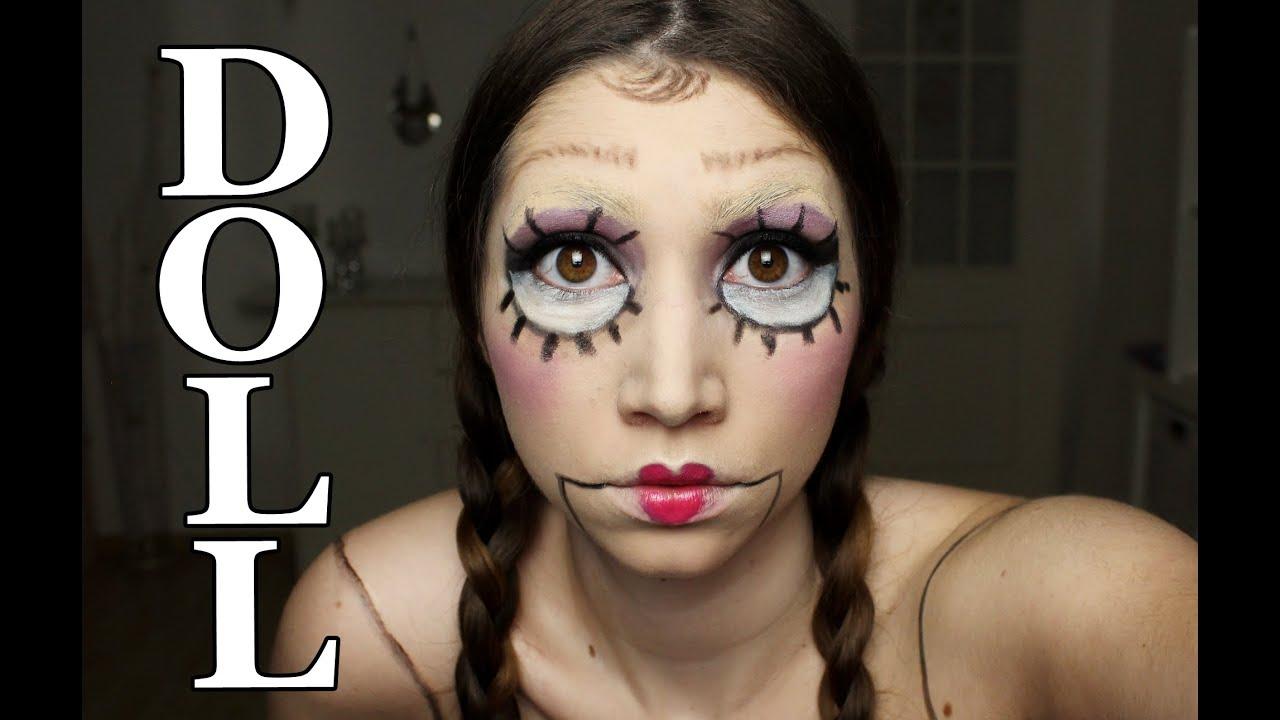 Creepy Halloween Doll Make Up Tutorial |  Horror Puppe Makeup | Kostüm Costume Karneval
