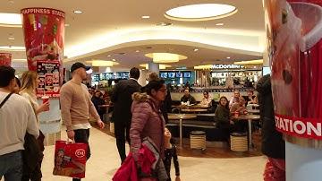 Saturday Night in Shopping Center Hamburger Meile 2019 3 4K