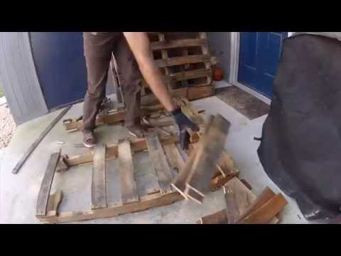 Tearing Down Pallets for Woodworking Tasks