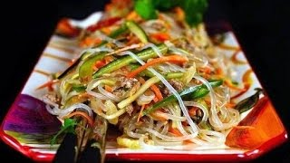 корейский салат говядиной из фунчозы пентузы