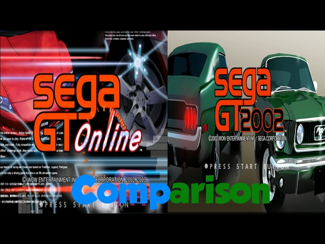 Sega GT 2002 vs Sega GT Online Side by Side Comparison