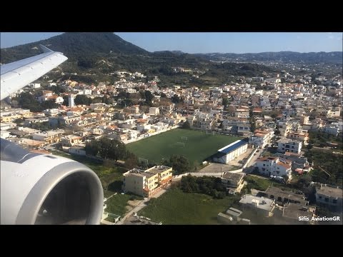 Aegean Airlines A320 Stunning Landing At Rhodes Airport [HD]