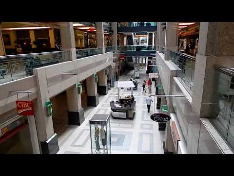 Calgary CORE Shopping Centre with Glass Ceiling and Empty Shops